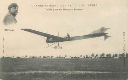 "CPA AVIATION ""Aviateur Thomas sur son monoplan antoinette"""