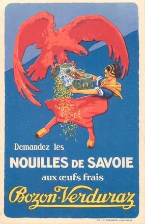 """CPA PUBLICITE """"Nouilles de Savoie"""""""
