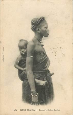 """CPA CONGO FRANÇAIS """"Femme et enfant Batékés"""""""