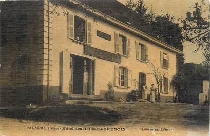 "/ CPA FRANCE 38 ""Paladru, hôtel des Bains Laurencin """