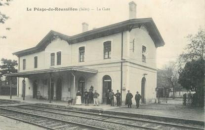 """/ CPA FRANCE 38 """"Le Péage du Roussillon, la gare """""""