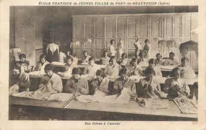 """/ CPA FRANCE 38 """"Pont de Beauvoisin, école pratique de jeunes filles"""""""