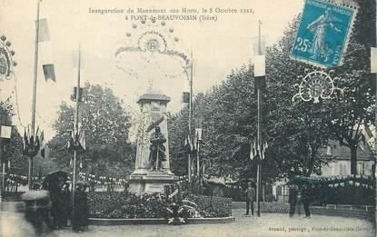 """/ CPA FRANCE 38 """"Pont de Beauvoisin, inauguration du monument aux morts"""""""