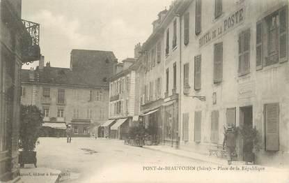 """/ CPA FRANCE 38 """"Pont de  Beauvoisin, Place  de la République"""""""
