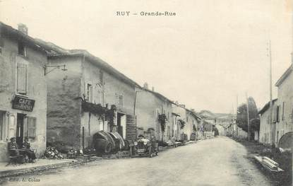 "/ CPA FRANCE 38 ""Ruy, grande rue"""