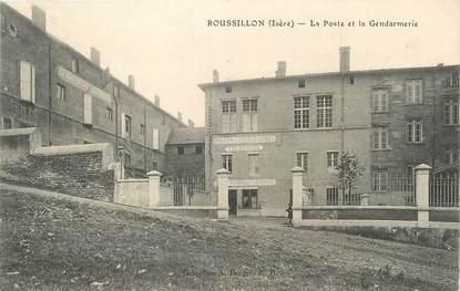 """/ CPA FRANCE 38 """"Roussillon, la poste et la gendarmerie"""""""