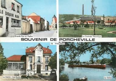 """/ CPSM FRANCE 78 """"Souvenir de Porcheville"""""""