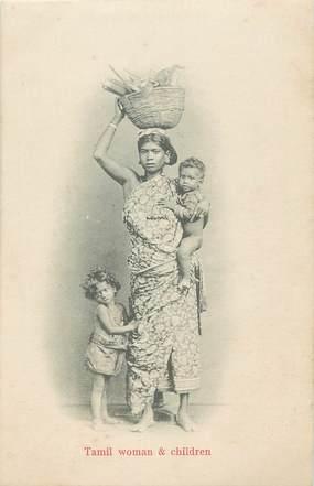 CPA INDE / CEYLAN / Femme Tamil et enfant