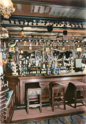 """/ CPSM FRANCE 78 """"Bougival, hostellerie du Coq Hardy, le bar"""""""