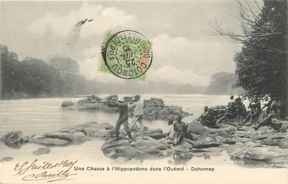 "CPA DAHOMEY ""Chasse à l'Hippopotame"""
