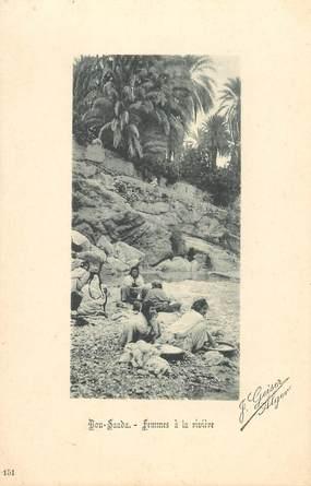 """CPA ALGERIE / Ed. GEISER """"Bou Saada, femmes à la rivière"""""""