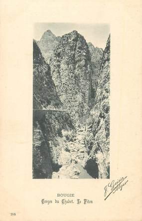 "CPA ALGERIE / Ed. GEISER ""Bougie, gorges du Chabet"""