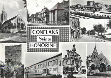 """/ CPSM FRANCE 78 """"Conflans Sainte Honorine, divers aspects de la ville"""""""