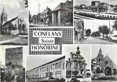 """78 Yveline / CPSM FRANCE 78 """"Conflans Sainte Honorine, divers aspects de la ville"""""""