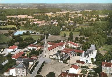 """/ CPSM FRANCE 79 """"L'Absie, vue aérienne, l'église et le château"""""""