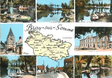 """/ CPSM FRANCE 80 """"Bray sur Somme"""""""