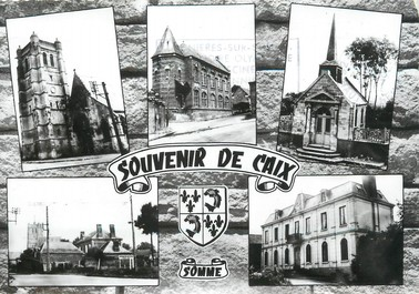 "/ CPSM FRANCE 80 ""Souvenir de Caix"""