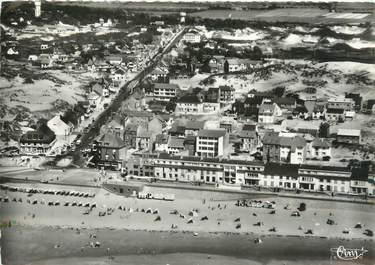 """/ CPSM FRANCE 80 """"Fort Mahon, vue générale et la plage"""""""