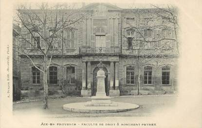 """CPA FRANCE 13 """"Aix en Provence, Faculté de droit et monument Peyrex"""""""