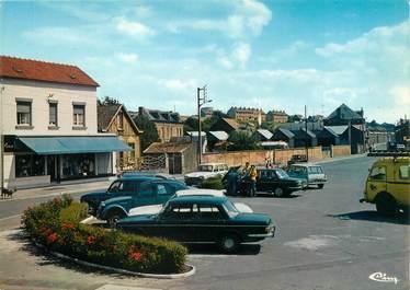 """/ CPSM FRANCE 80 """"Saint Ouen, la place Jean Catlas"""""""