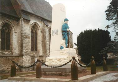 "/ CPSM FRANCE 80 ""Vron, monument aux morts"" / DOS NON CP"