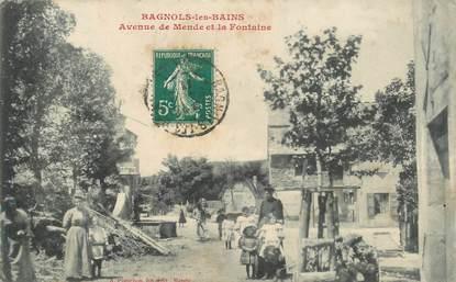 """.CPA FRANCE  48 """"Bagnols Les Bains, Avenue de Mende et la Fontaine"""""""