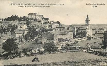 """.CPA  FRANCE  48 """"Le Chambon le Château,  Vue générale"""""""