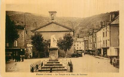 """.CPA FRANCE  48 """" Florac, le Temple et la Place du Souvenir"""""""