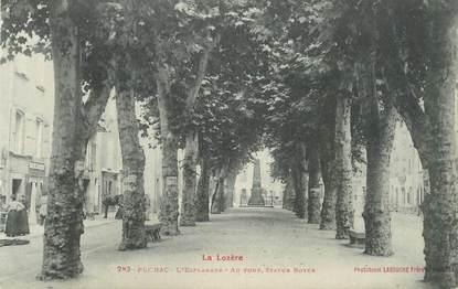 """.CPA FRANCE  48 """" Florac, l'Esplanade et Statue Boyer"""""""