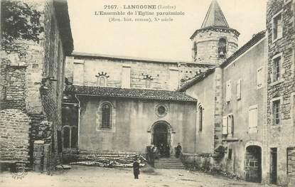 """.CPA FRANCE  48 """" Langogne, l'Ensemble de l'Eglise Paroissiale"""""""