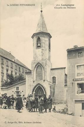 """.CPA FRANCE  48 """" Langogne, Chapelle des Pénitents"""""""