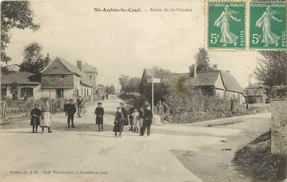 """CPA FRANCE 76 """"Saint Aubin le Cauf, Rte de Saint Nicolas"""""""