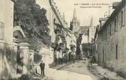 """48 Lozere .CPA FRANCE  48 """"Mende,  Rue de la Banque, avenue des Casernes"""""""