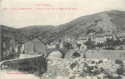""".CPA FRANCE  48 """"Le Pont de Montvert, Le grand pont sur le Tarn et les quais"""""""