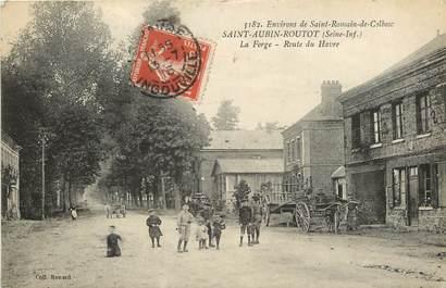 """CPA FRANCE 76 """"Saint Aubin Routot, La Forge"""""""