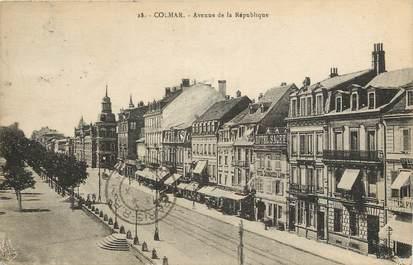 """CPA FRANCE 68 """"Colmar, l'avenue de la République"""""""
