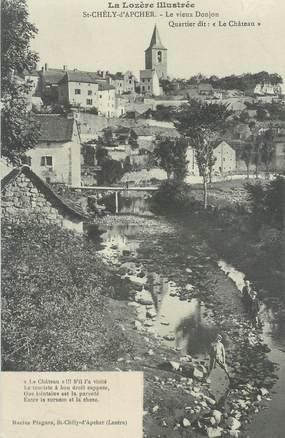 ".CPA FRANCE  48 ""St Chély d'Apcher, le Vieux donjon"""