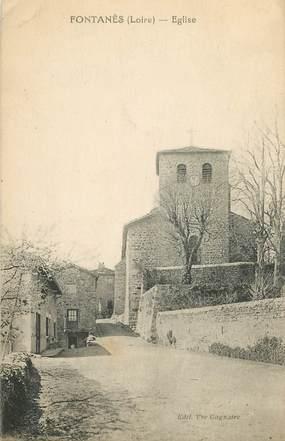 """.CPA FRANCE 42 '""""Fontanès, Eglise"""""""