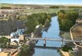 """89 Yonne CPSM FRANCE 89 """"Appoigny, le pont et les bords de l'Yonne"""""""