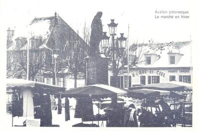 """/ CPSM FRANCE 89 """"Avallon, le marché en hiver"""""""