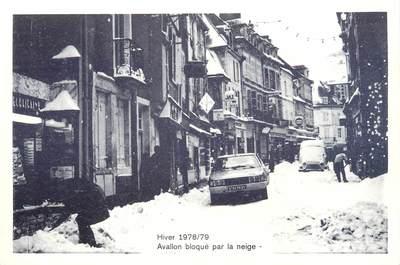 """/ CPSM FRANCE 89 """"Avallon bloqué par la neige """""""