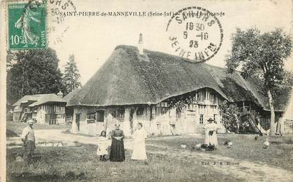 """CPA FRANCE 76 """"Saint Pierre de Manneville, Ferme normande"""""""