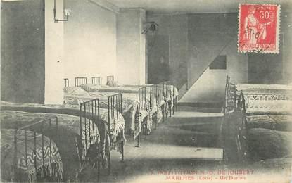 """.CPA FRANCE 42 """"Marlhes, Institution Notre Dame de Joubert un dortoir"""""""