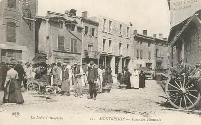 """.CPA FRANCE 42 """"Montbrison, Place des Pénitents"""""""