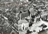 """89 Yonne / CPSM FRANCE 89 """"Brienon sur Armançon, l'église et la place de l'hôtel de ville """""""