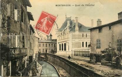 """.CPA FRANCE 42 """"Montbrison, Quai de l'Hôpital"""""""