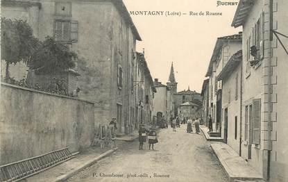 ".CPA FRANCE 42 ""Montagny, Rue de Roanne """
