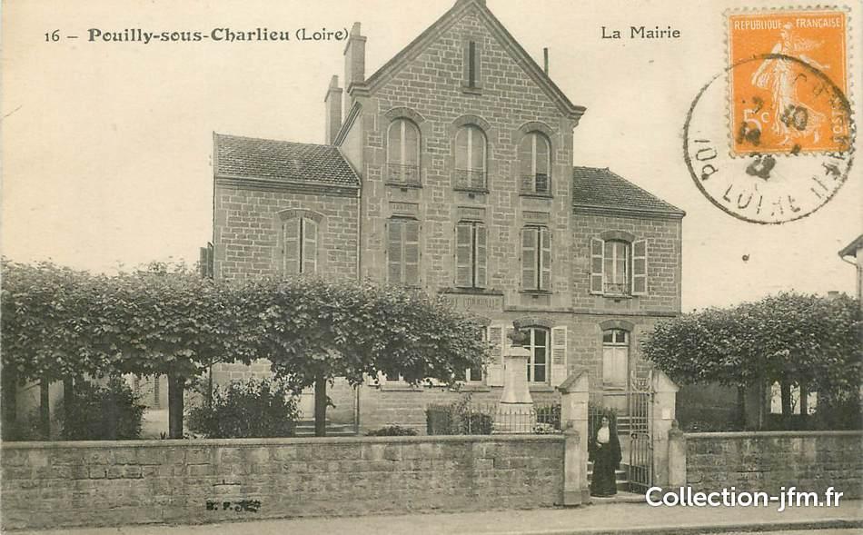 cpa france 42 pouilly sous charlieu la mairie 42 loire autres communes 42 ref. Black Bedroom Furniture Sets. Home Design Ideas