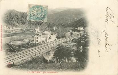 """.CPA FRANCE 42 """"Le Pertuiset, La Gare"""""""