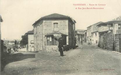 """.CPA FRANCE 42 """"Panissières, Route de Cottance et Rue J.B Bonnassieux"""""""